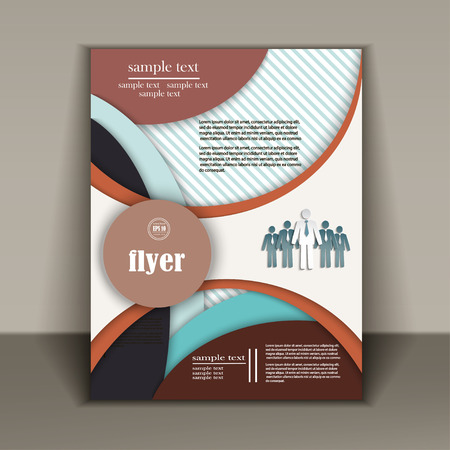 publisher: business flyer, brochure vector template