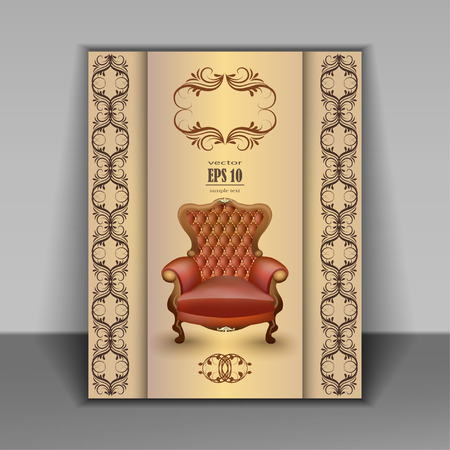 vector furniture antique chair baroque Vector