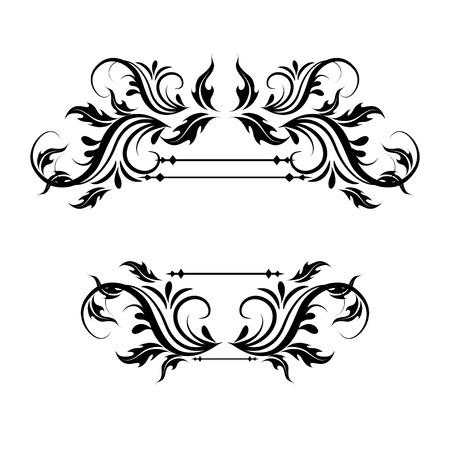 illustration of set of vintage design elements for page border 일러스트