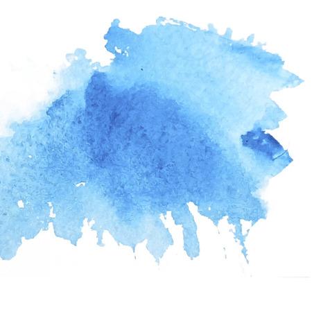 Light water blue watercolor banner for web design. Vector illustration.