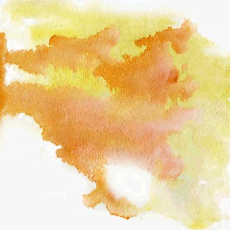 vector yellow watercolor splatter