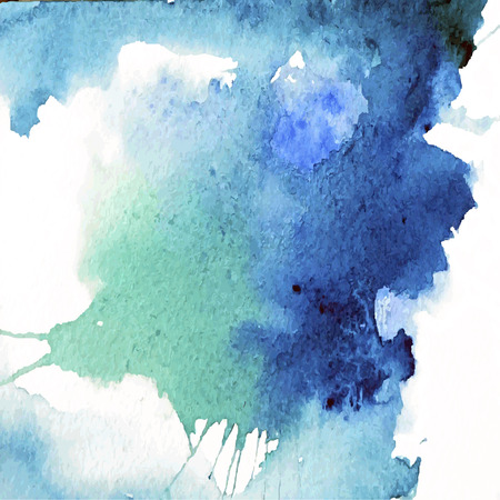 Watercolor blue background with space for text - vector Illustration