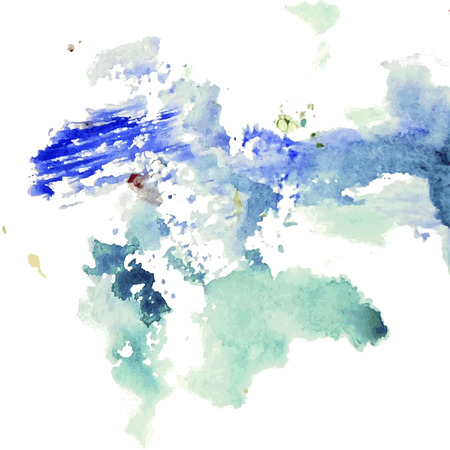 blots: Abstract artistic element forming by blots Illustration