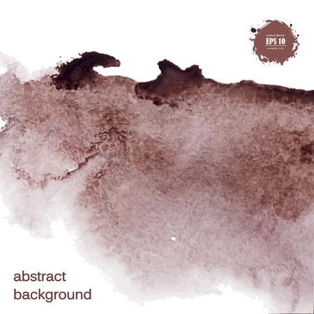 Ontworpen abstracte waterverfachtergrond, ontwerpelement, bruine waterverf.