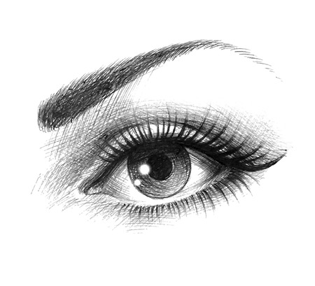 beautiful female eye Ilustracja