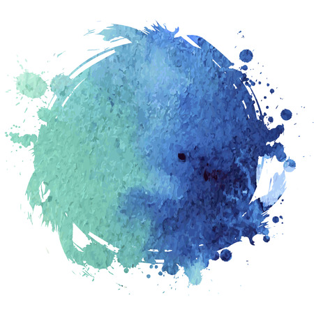 Grunge banner. Grunge watercolor background. Blue watercolor spot. Иллюстрация