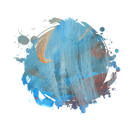 Grunge banner. Grunge watercolor background. Blue watercolor spot. Vector