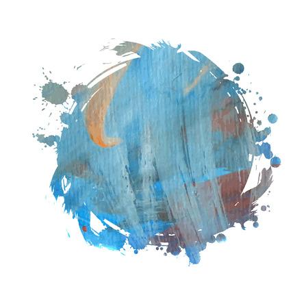 grunge banner: Grunge banner. Grunge watercolor background. Blue watercolor spot. Illustration