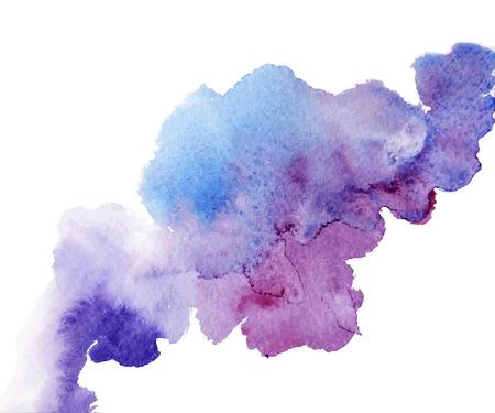 pincel: Salpicaduras de acuarela abstracta. Ca�da de la acuarela. Vectores