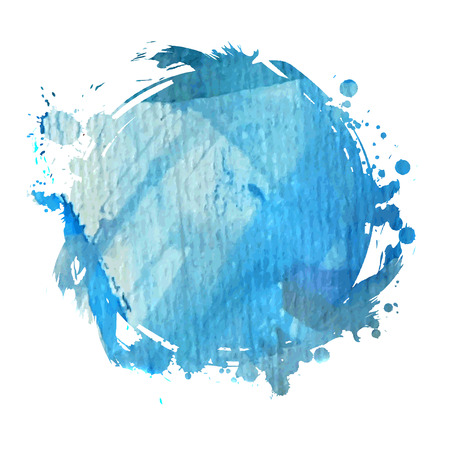 Grunge banner. Grunge watercolor background. Blue watercolor spot. Vector