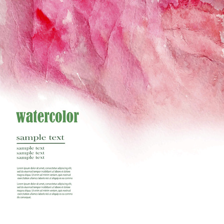 vector abstract watercolor background for your design Ilustração