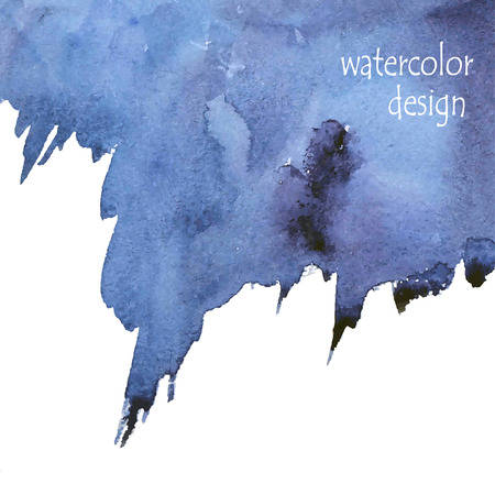 Abstract blue watercolor background for your design Ilustração