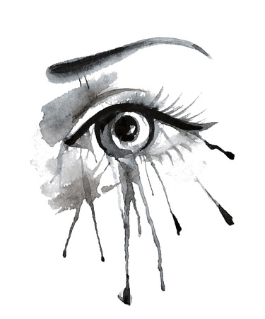 Vector illustration grunge beautiful female eye Banco de Imagens - 41502428
