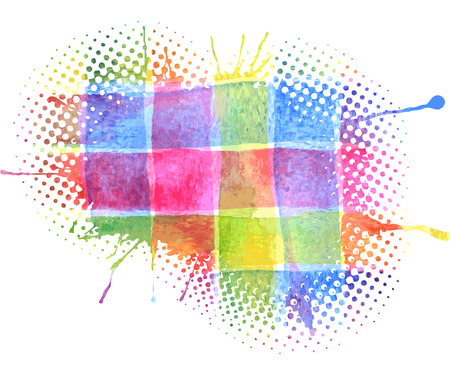 Vector Kleurrijke aquarel Splash voor decoratie van posters, typografie, flyers en andere. Original Rainbow Blobs voor poster design. Stock Illustratie