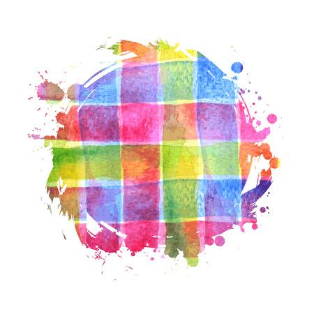 Vector abstracte roze, oranje en gele vlekken. Heldere inkt ontwerp vlekken geïsoleerd op wit. Abstracte verf illustratie. Ruimte stijl. Achtergrond voor banner, kaart, poster, poster, identiteit, webdesign. Stock Illustratie