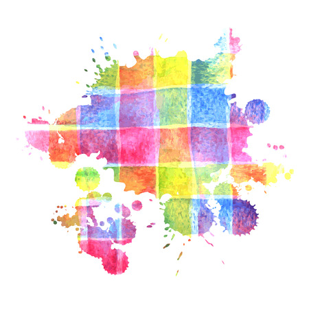 blobs: Vector Colorful Watercolor Splash for decoration of posters, typography, flyers and other. Original Rainbow Blobs for poster design.