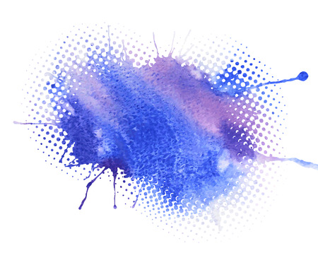 forming: Abstract artistic element forming by blots Illustration