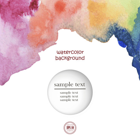ombre: Vector watercolor background. Abstract watercolor hand drawn stain. Element for your design.