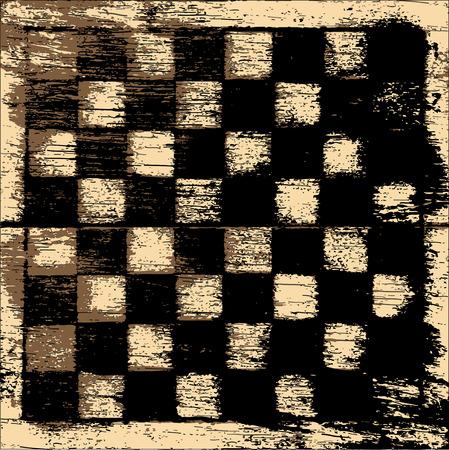 tablero de ajedrez: Grunge vector de tablero de ajedrez