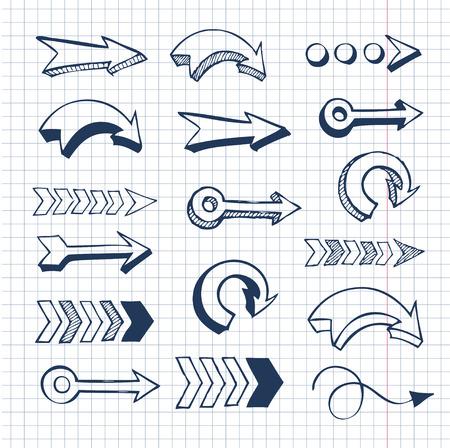 Hand gezeichnet Pfeil Standard-Bild - 44410367