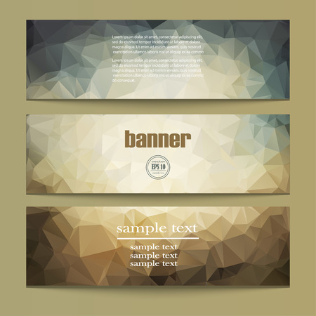 graphic backgrounds: Set of templates for design of vertical banners, covers, posters, web pages in geometric graphic style. Abstract modern polygonal backgrounds. Vector illustration EPS10 Illustration