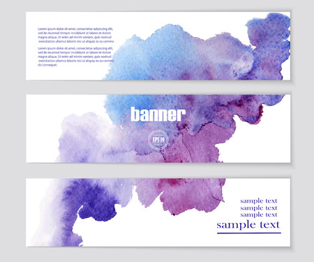 webpages: Set of patterns for design banners, covers, posters, web-pages in watercolor style. Abstract modern backgrounds. Vector EPS10 illustration