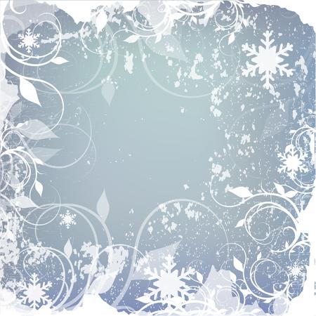 schneeflocke: Winter Hintergrund, Schneeflocken - Vektor-Illustration