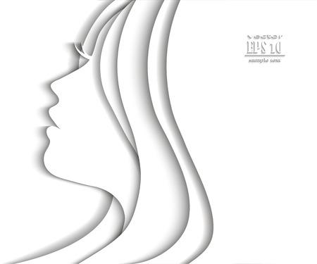 Woman profile beauty illustration vector 版權商用圖片 - 45950449