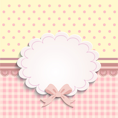 birth announcement: Vintage baby girl arrival announcement card.