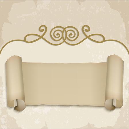 oldstyle: Vintage banner, old-style vector Illustration