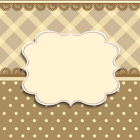 invitation frame: Vector Plaid Pattern and Ornate Frame. Easy to edit. Perfect for invitations or announcements.
