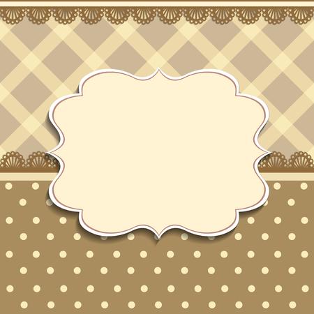 Vektor-Plaid-Muster und verzierten Rahmen. Leicht zu bearbeiten. Perfekt für Einladungen oder Ankündigungen.