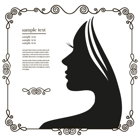 black women hair: Vector illustration of Womans silhouette with beautiful hair
