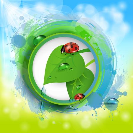 10eps: Spring frame, green 10eps