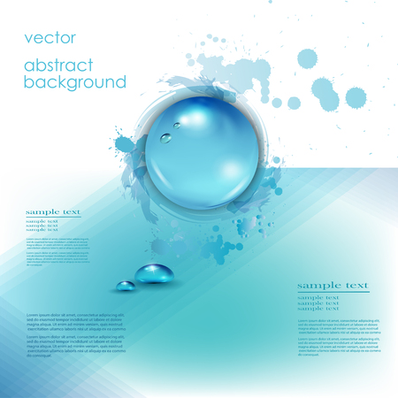 drops of water: Water drops background with place for text. Vector illustration