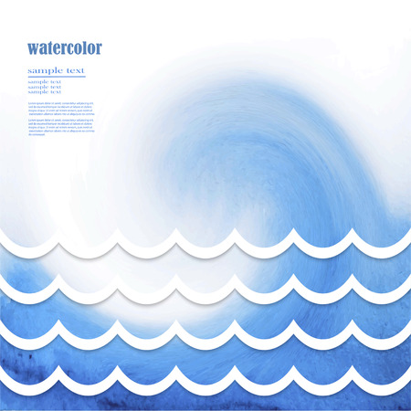 blue waves vector: Abstract Design Creativity Background of Blue Waves, Vector Illustration EPS10