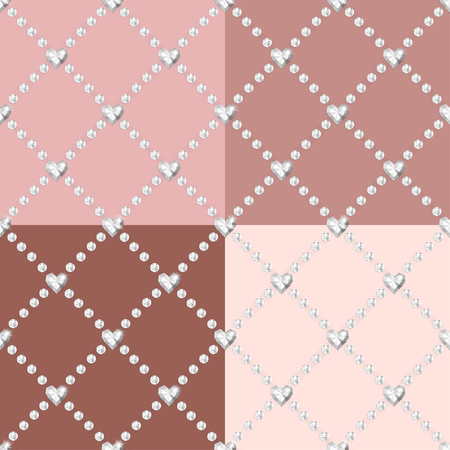 karat: Style diamonds background. Geometric seamless pattern with linear diamonds.