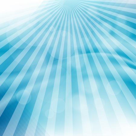 spot lit: Flare in blue sky. Vector illustration.