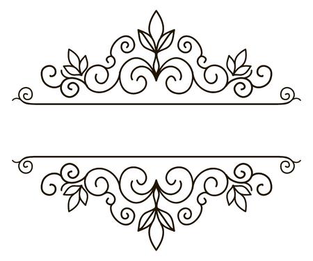 Vector decoratieve frame. Elegant element voor ontwerp sjabloon, plaats voor tekst. Bloemen grens. Lace decor voor verjaardag en wenskaart, bruiloft uitnodiging. Stock Illustratie