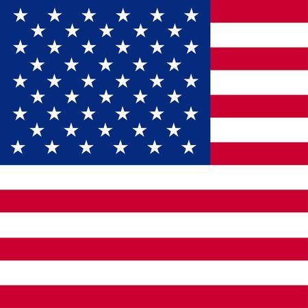Imagen del vector de la bandera americana Foto de archivo - 56195508
