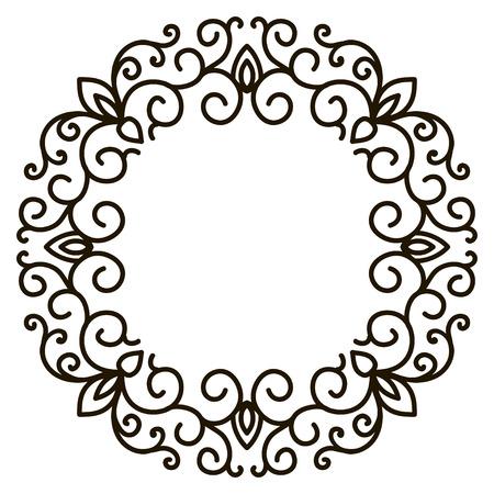 simple: Vector simple ornamental decorative frame Illustration