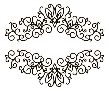 calligraphic design: Calligraphic design elements set