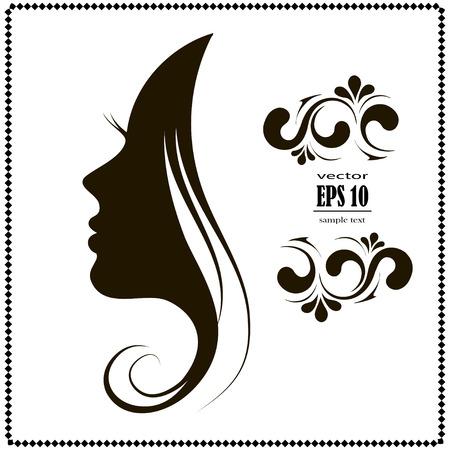 silueta, el cabello de la mujer