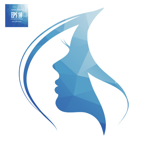 womans silhouette, hair Иллюстрация