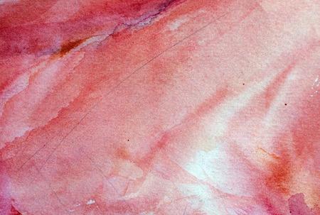 unrepeatable: bright red watercolor background Stock Photo