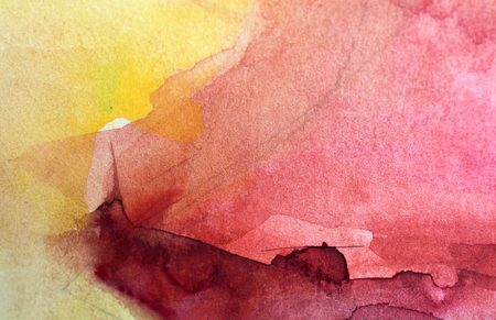 unrepeatable: Beautiful watercolor background with paper texture Stock Photo