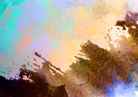 unrepeatable: Abstract watercolor painted background