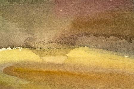 unrepeatable: horizontal brown watercolor background