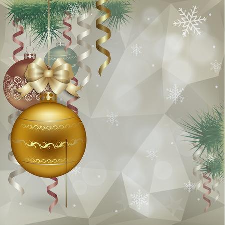 christmas greeting card: Christmas vintage greeting card. Illustration
