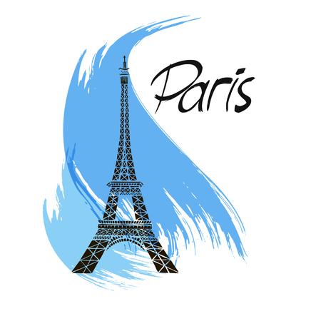 Stylish Eiffel tower illustration.